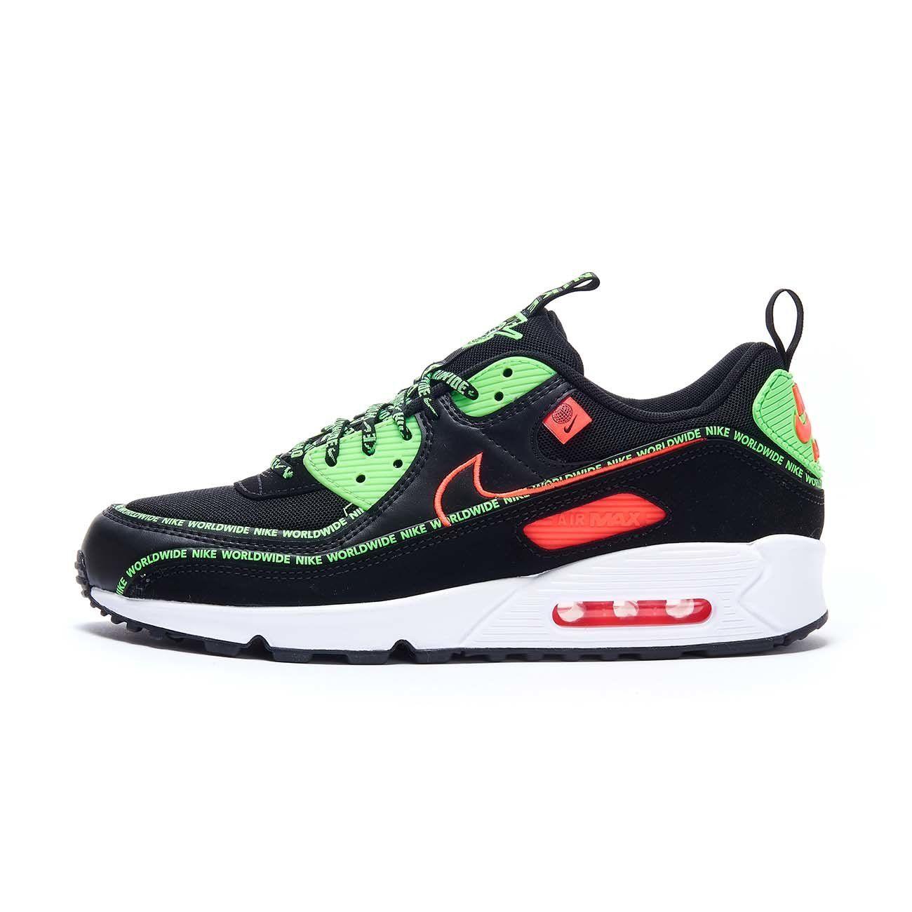 NIKE AIR MAX 90 SE SNEAKERS Man Black Green   Mascheroni Sportswear