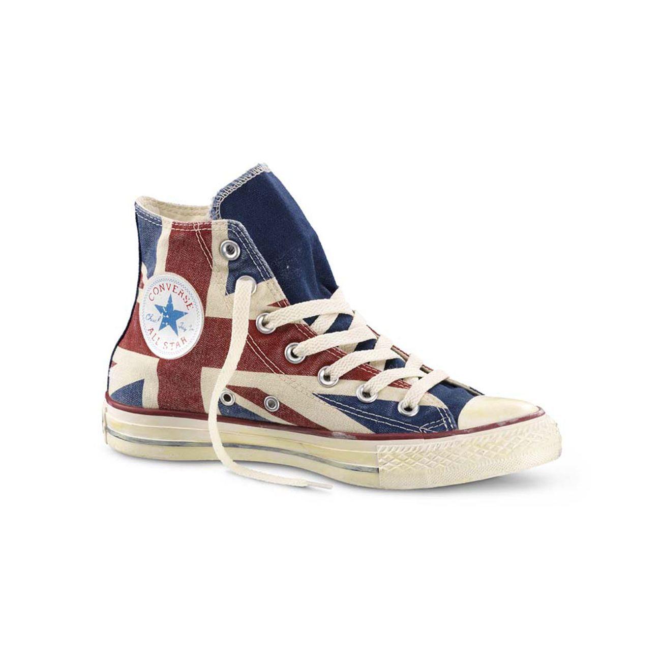 CONVERSE ALL STAR HI GRAPHICS UK FLAG   Mascheroni Sportswear