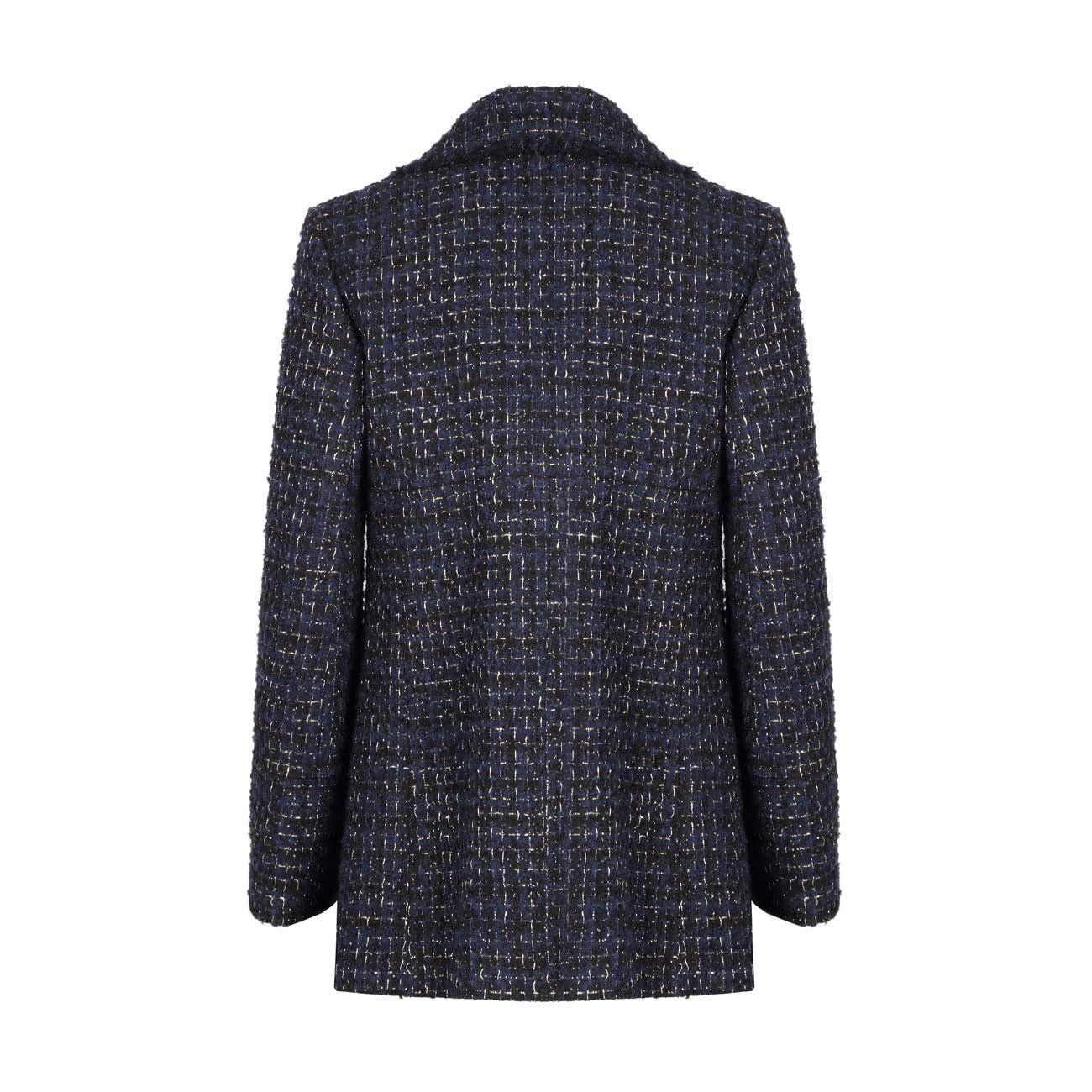 Laminated tweed jacket