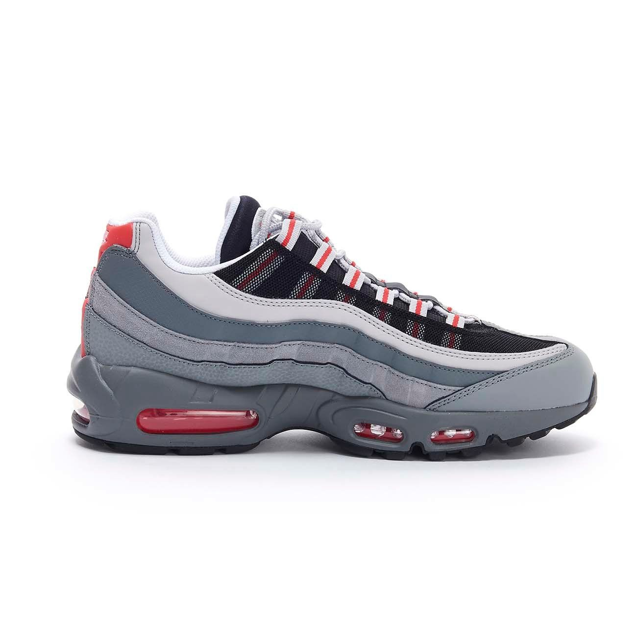 SNEAKER AIR MAX 95 ESSENTIAL Man Track red White Particle grey 2105826825863