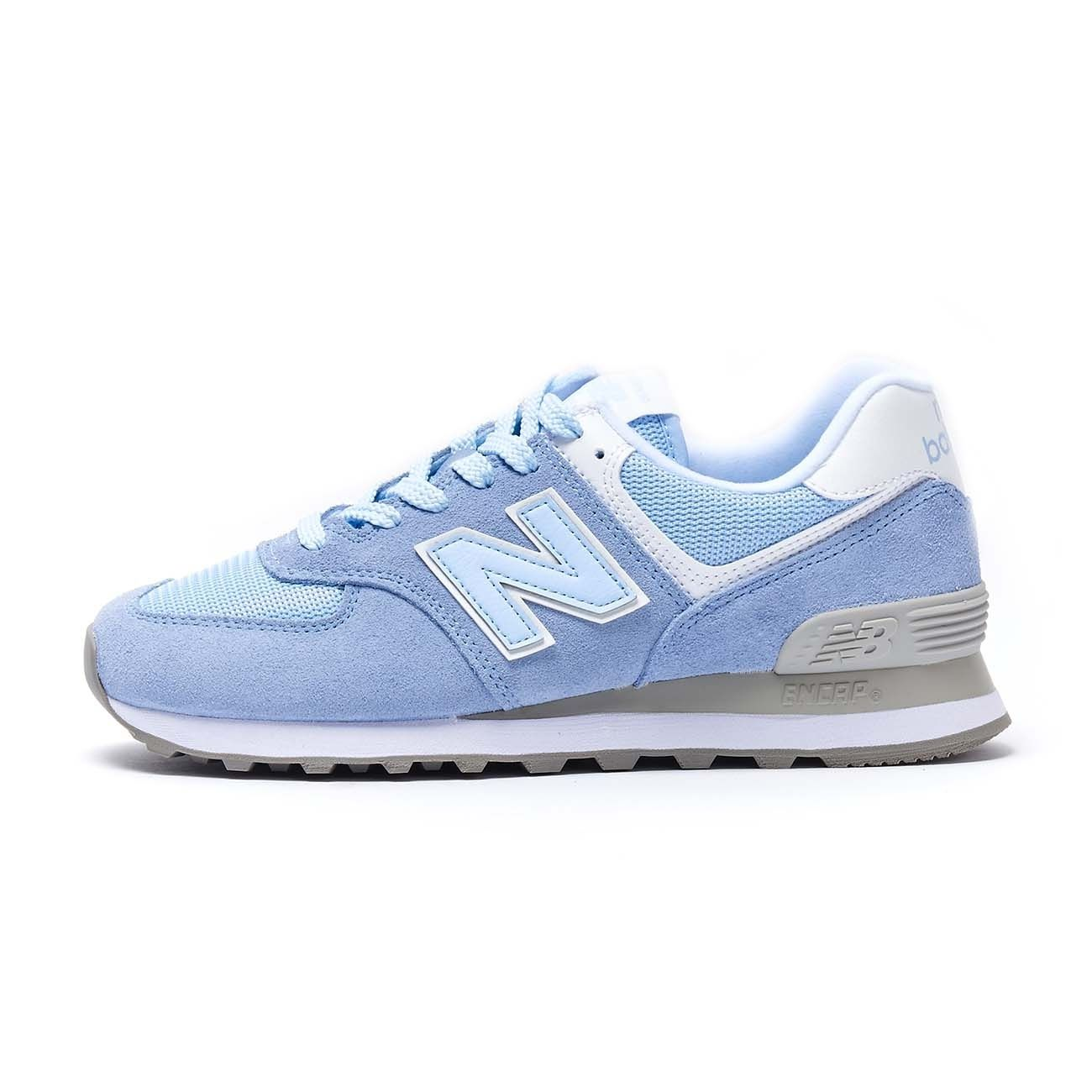NEW BALANCE SNEAKERS 574 LIFESTYLE SUEDE MESH Woman Air light blu ...
