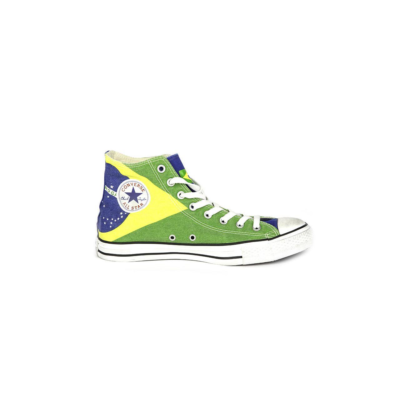 CONVERSE SNEAKERS ALL STAR HI GRAPHICS BRASIL FLAG | Mascheroni ...