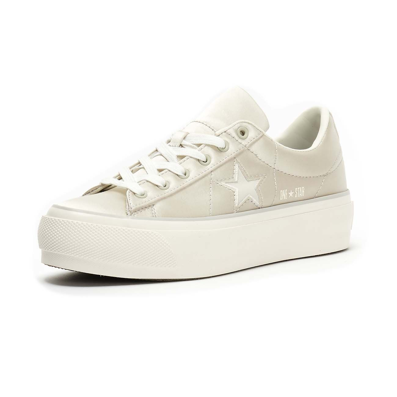 CONVERSE SNEAKERS ONE STAR PLATFORM OX Women Mouse white egret ...